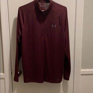 1/4 zip maroon pullover brand new never worn